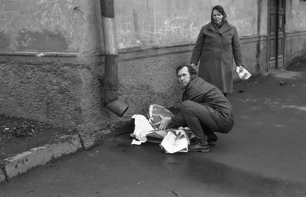 Люди с мясом на улице Энтузиастов