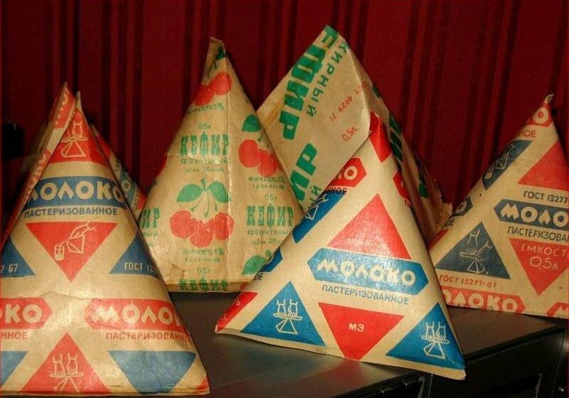 Молоко в треугольниках