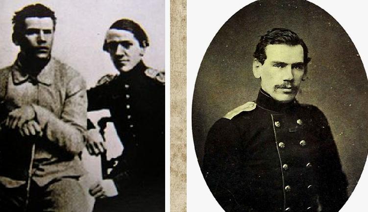 Лев Толстой с братом