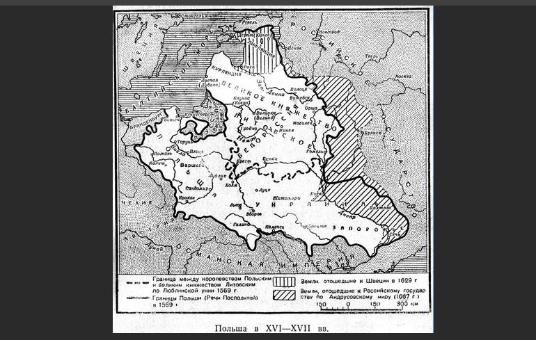 Карта Польши 16 века