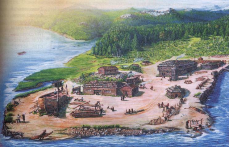 На острове Ситка Михайловская крепость