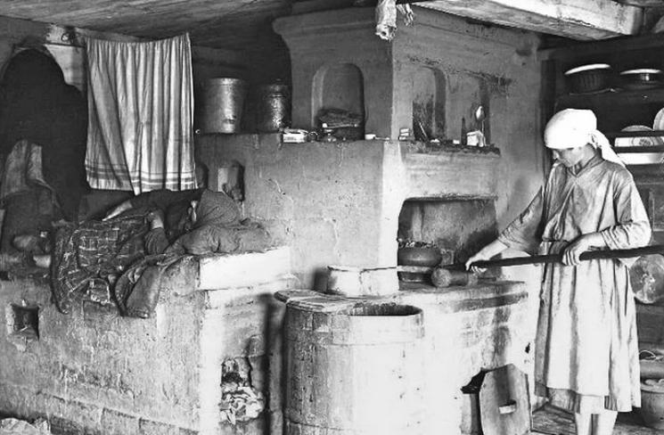 Печь в доме у крестьян