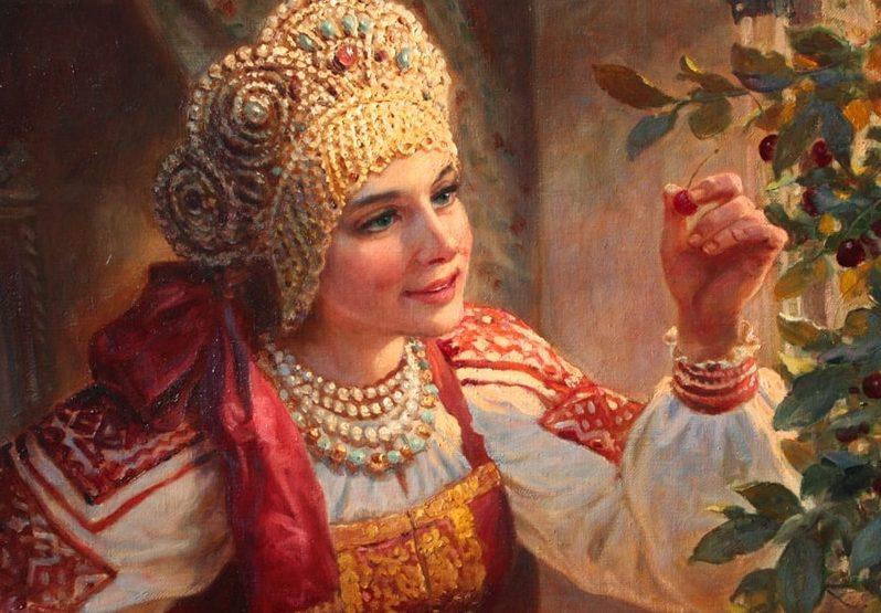 Девушка на Руси