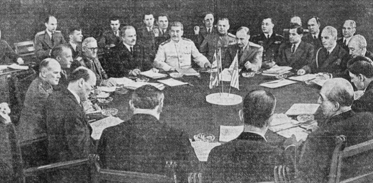 Сталин на встрече