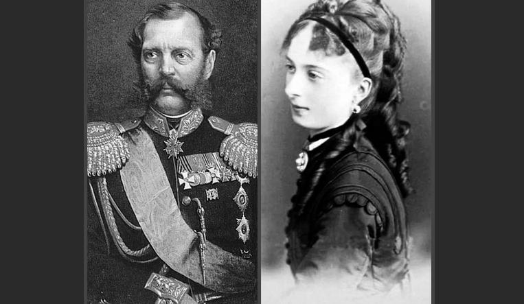 Александр 2 и Екатерина Долгорукая